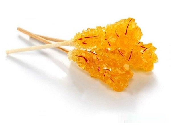 Saffron Sugar Rock Candy